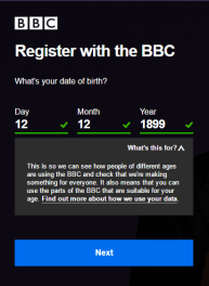 Register BBC account