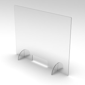acrylic sneeze guard divider between customers and employees