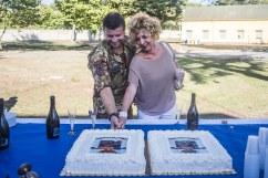 5- Cte Reggimento, Col. Mauro Bruschi e Madrina dell'Unità, Gioia Giampietro