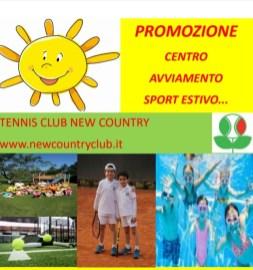 new country locandina centro avviamento sport estivo