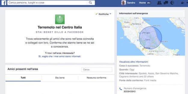 Il post di Facebook Safety