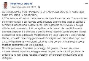 Cena solidale a Sesto San Giovanni, Mediterranea querela il Sindaco Di Stefano - Osservatore Meneghino
