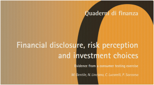 Research note. Financial disclosure, risk perception and investment choice