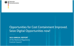 2015 Annual report of the German National Regulatory Control Council