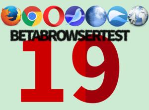 BetaBrowserTest 19: Firefox 57, Chrome 61, Opera 48, SeaMonkey 2.54, Pale Moon 27.4, QupZilla 2.1.2, Epiphany 3.25.2
