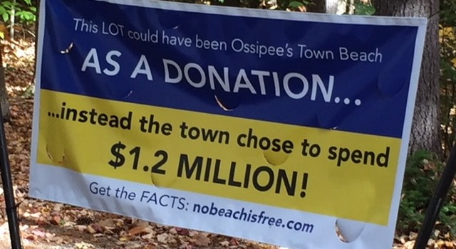 Judge Denies Ossipee Injunction on Beach Owner