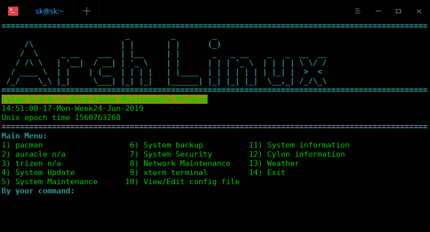 Cylon – The Arch Linux Maintenance Program For Newbies