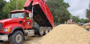 UF_Football_Training_Center_dump-truck
