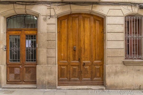 typical heavy wooden doors