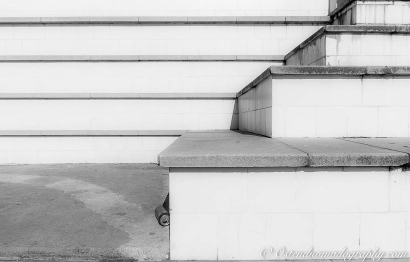 Stairs at Parc de l'Espanya Industrial Black & White