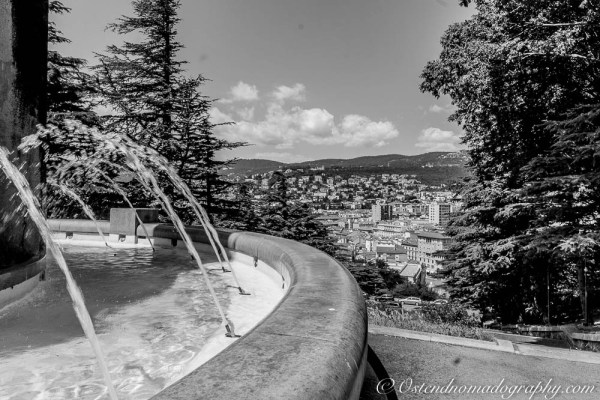 A fountain at Memorial Park in Trieste (Italy)