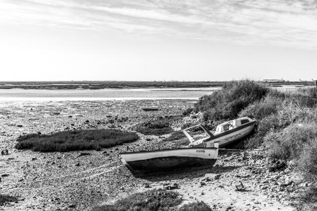 Monochrome Low-Tide In Faro
