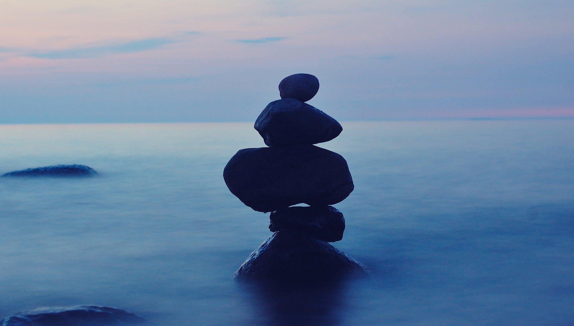 Bild einer Stein-Balance
