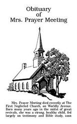 Obituary of Mrs. Prayer Meeting