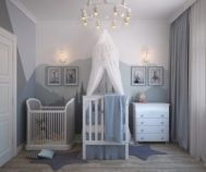 baby cradle and court-age