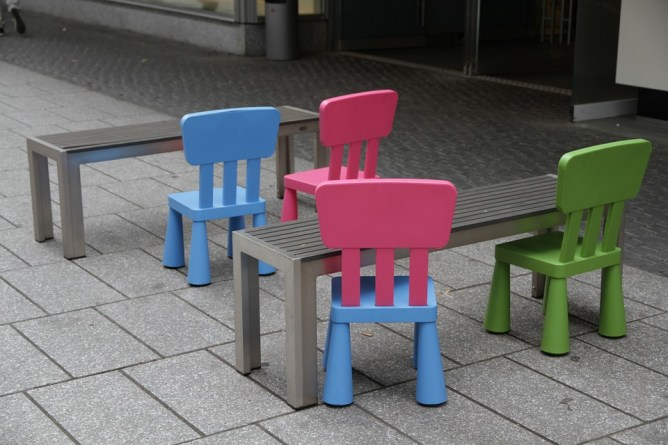 children chairs and small tables
