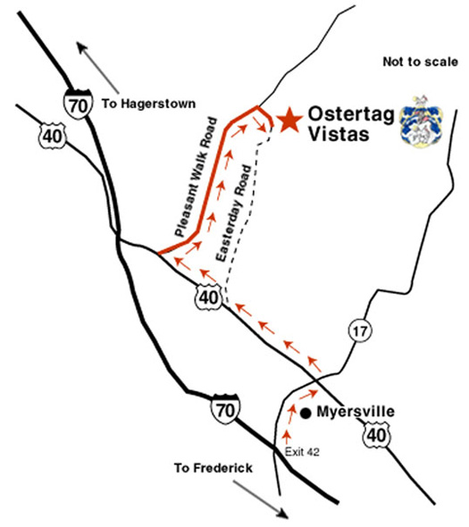 Ostertag Vistas : Directions and Map