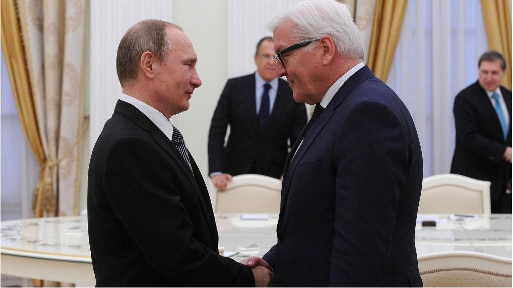Wladimir Putin and Frank-Walter Steinmeier