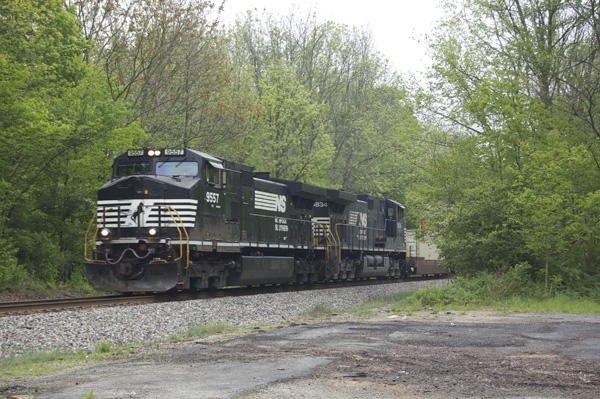 NS mixed freight south of Eaton OH.