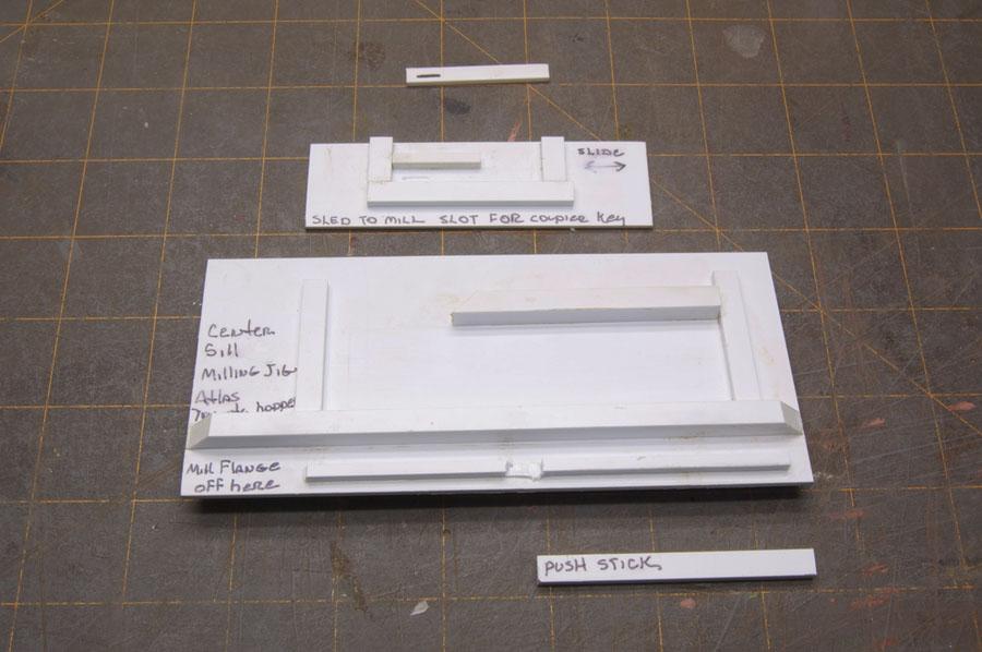 Jig for milling coupler key slots
