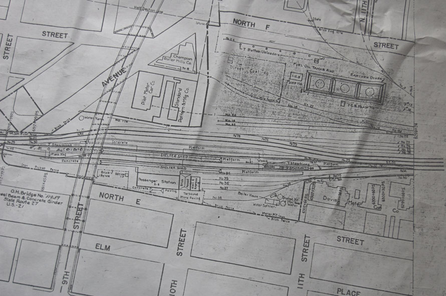 PRR Station trackage, RIchmond IN close-up