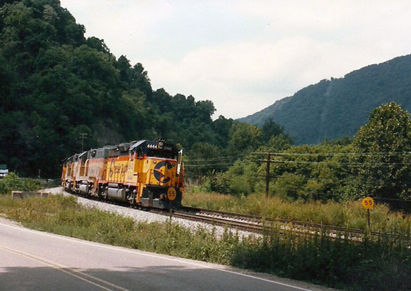 Chessie System Geeps in the New River Gorge, 1985