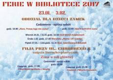 FERIE ZIMOWE 2017 W BIBLIOTECE W OSTRÓDZIE