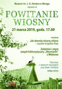 """""""POWITANIE WIOSNY"""" - MUZEUM W MORĄGU ZAPRASZA"""