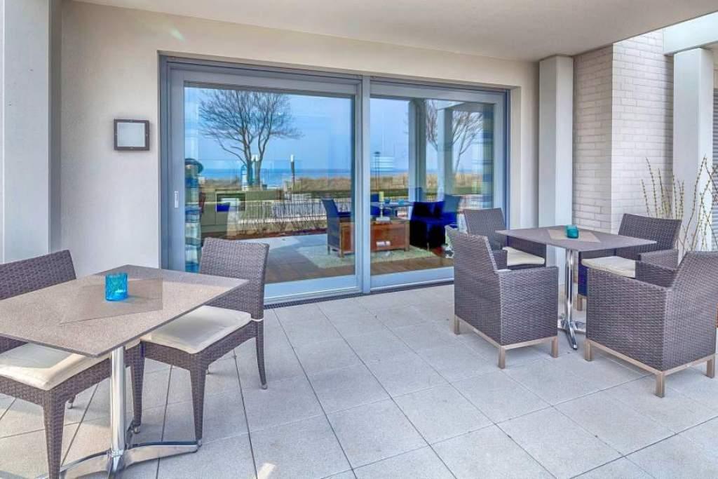 Ferienwohnung Strandleben in Haffkrug mit Meerblick und Terrasse  Holm Ferienwohnungen