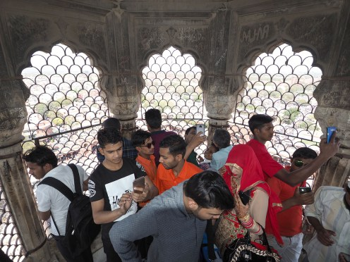 on the minaret