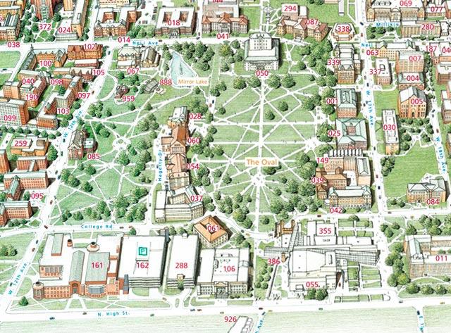 Colgate University Campus Map 2014