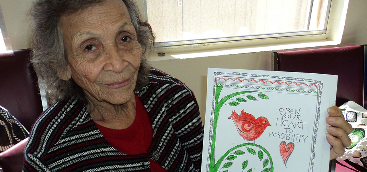 Woman at Laredo Senior Center