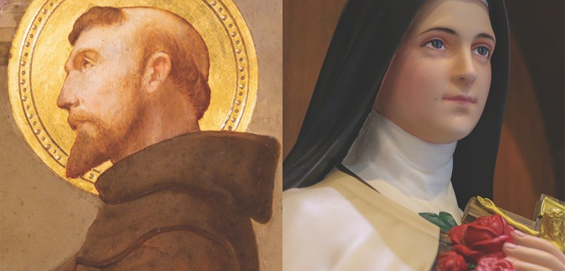 Sts. Francis of Assisi and Thérèse of Lisieux