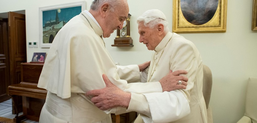 POPE FRANCIS RETIRED POPE BENEDICT 2018 FILE PHOTO