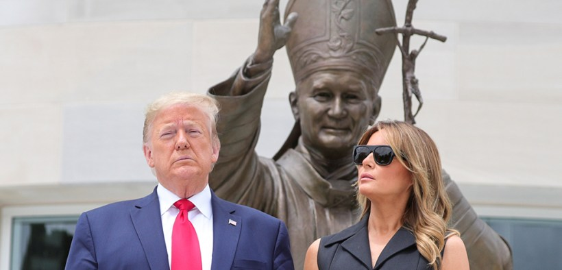TRUMP FIRST LADY VISIT ST. JOHN PAUL II SHRINE