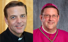 Bishop-elect Stephen Parkes of Savannah and Bishop Gregory Parkes of St. Petersburg