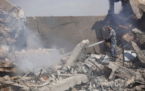 AIRSTRIKE SYRIA RESEARCH CENTER