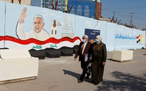 POPE MURAL CHURCH IRAQ