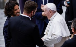 POPE AUDIENCE ACTOR DIRECTOR 'THE CHOSEN'