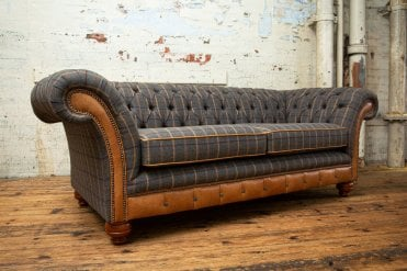fabric leather chesterfield sofas