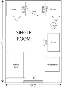 Mackin Complex RoomFurniture Sizes  Residence Life and