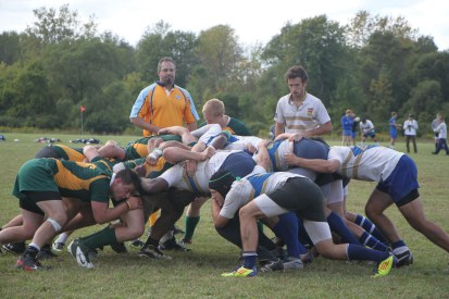 The Oswego State men's club rugby team is set to embark on its spring season as it breaks in a new roster.  (Photo provided by Reid Adler)