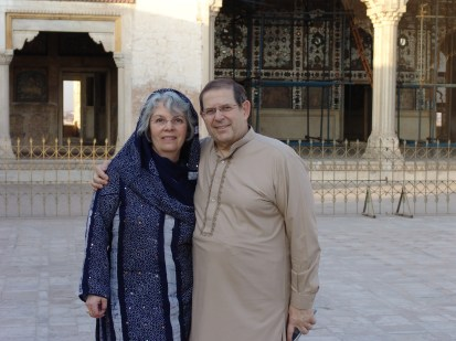 Former Oswego State political science professor Warren Weinstein (right) with his wife, Elaine Weinstein (left) in Pakistan in 2006.  (Photo provided by BringWarrenHome.com)