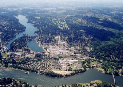 Oswego Lake Aerial looking West
