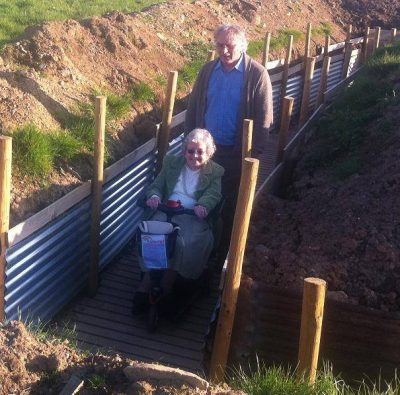 Accessible attraction - the trenches at Park Hall