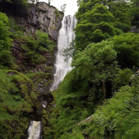 Llanrhaeadr Waterfall near Oswestry