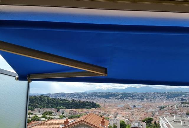 toile de store bleu osyla