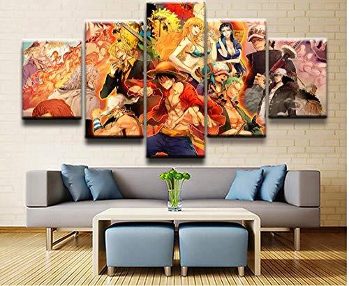 One Piece Leinwand 5-teilig   Dein Otaku Shop für Anime, Dakimakura, Ecchi und mehr
