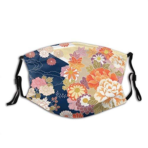 Gesichtsschutz Mundschutz Kimono Beautifu Japan Japanischer Hintergrund Sturmhaube Mund Bandanas Hal