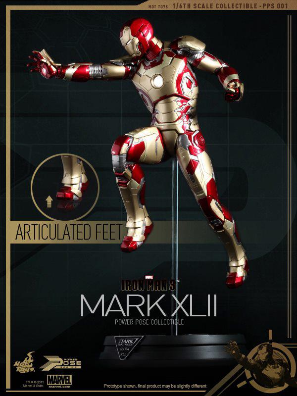 Preview   Hot Toys: Iron Man Mk XLII (Power Pose Series) (8)